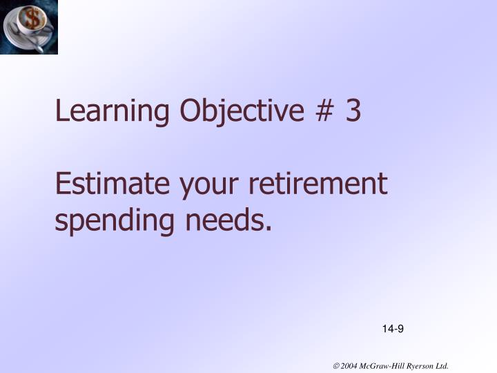 Learning Objective # 3