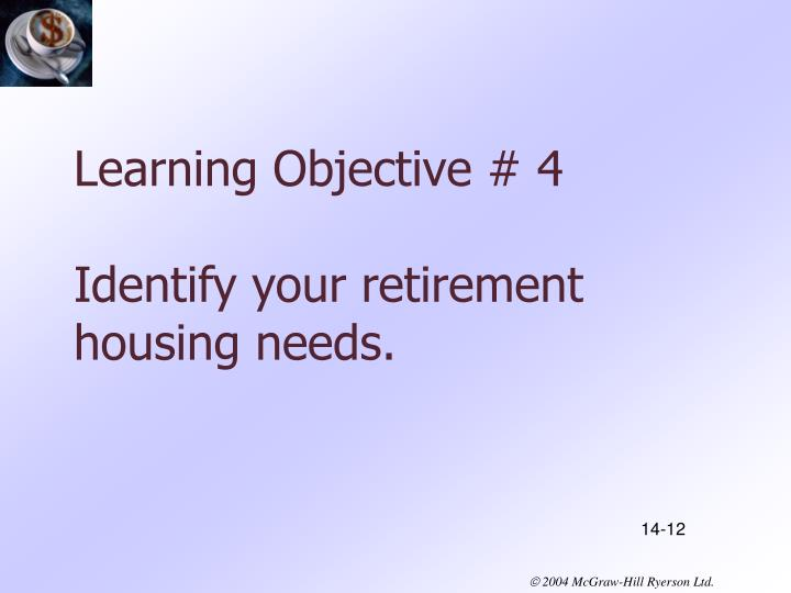 Learning Objective # 4