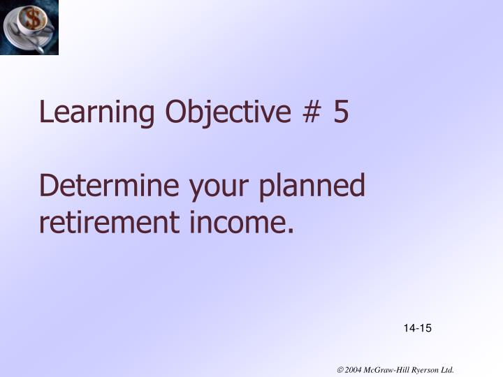 Learning Objective # 5