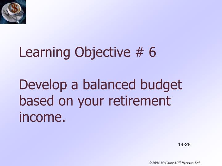 Learning Objective # 6