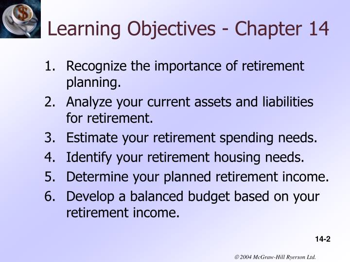 Learning Objectives - Chapter 14