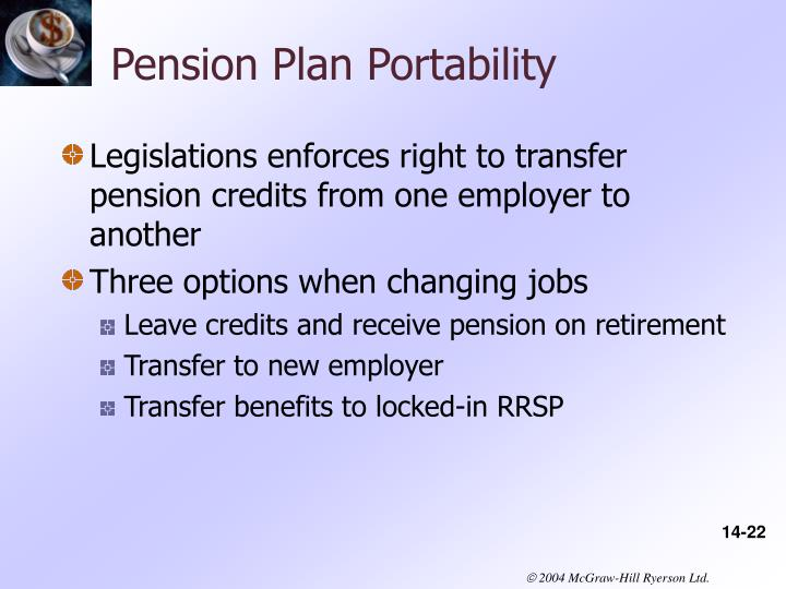 Pension Plan Portability