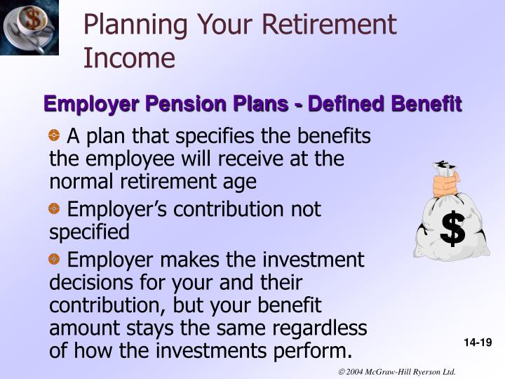 Planning Your Retirement Income