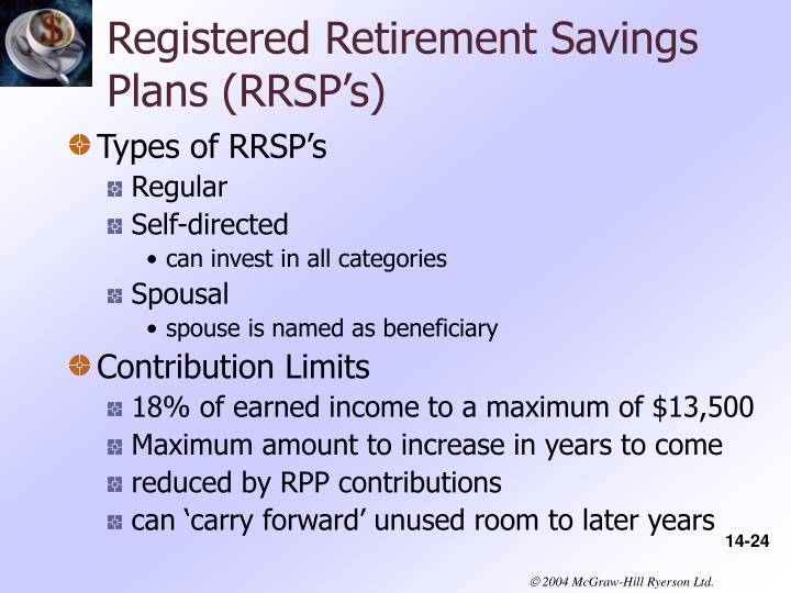 Registered Retirement Savings Plans (RRSP's)