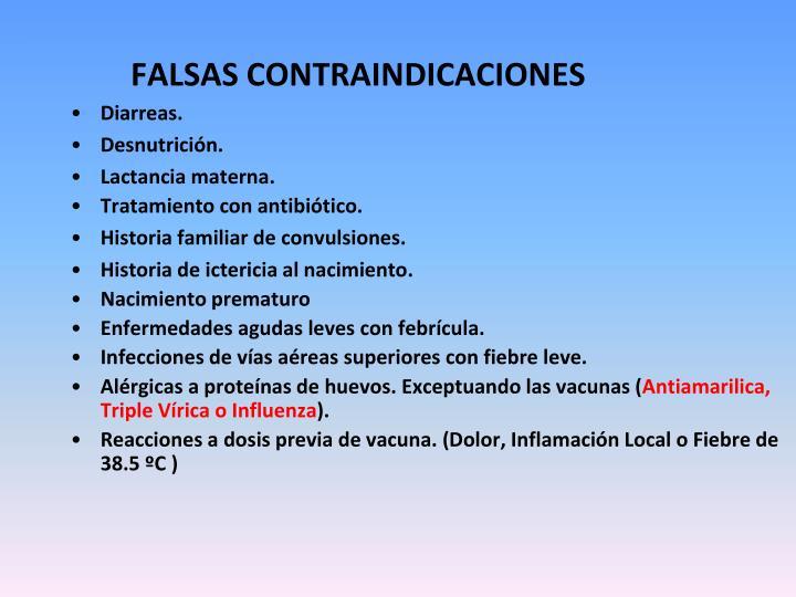 FALSAS CONTRAINDICACIONES