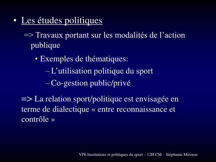 Les études politiques