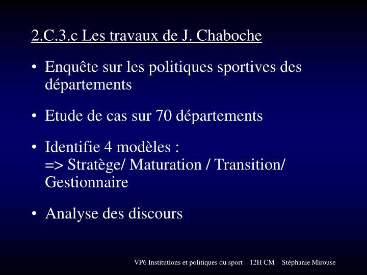 2.C.3.c Les travaux de J. Chaboche