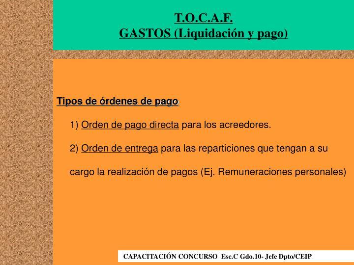 T.O.C.A.F.