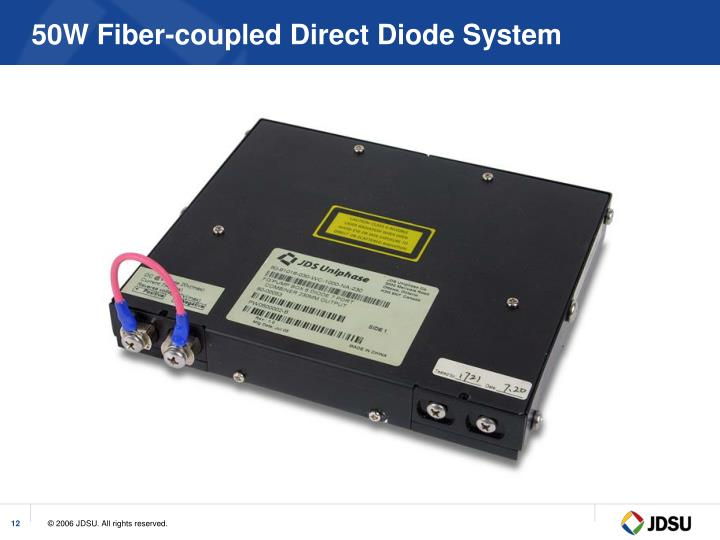 50W Fiber-coupled Direct Diode System