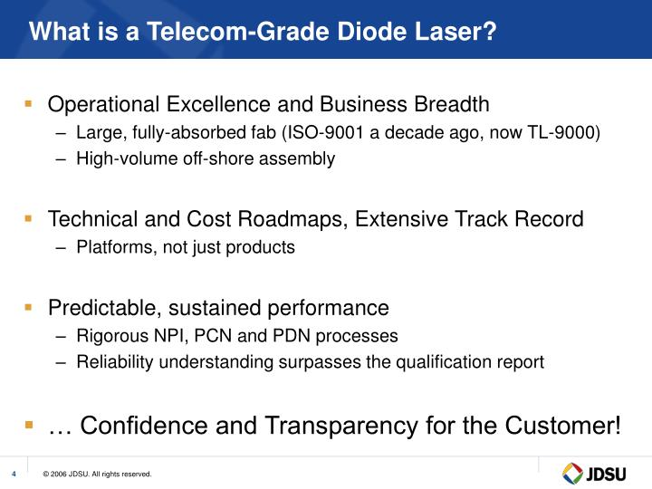 What is a Telecom-Grade Diode Laser?