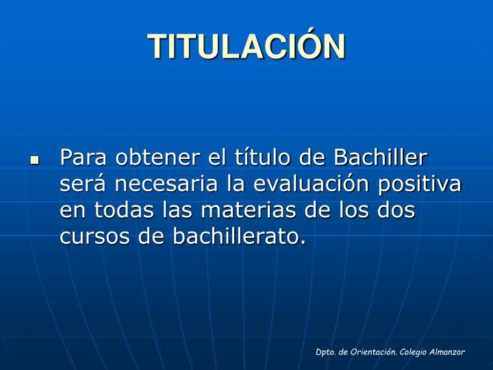 TITULACIÓN