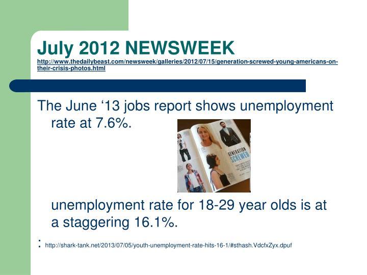 July 2012 NEWSWEEK