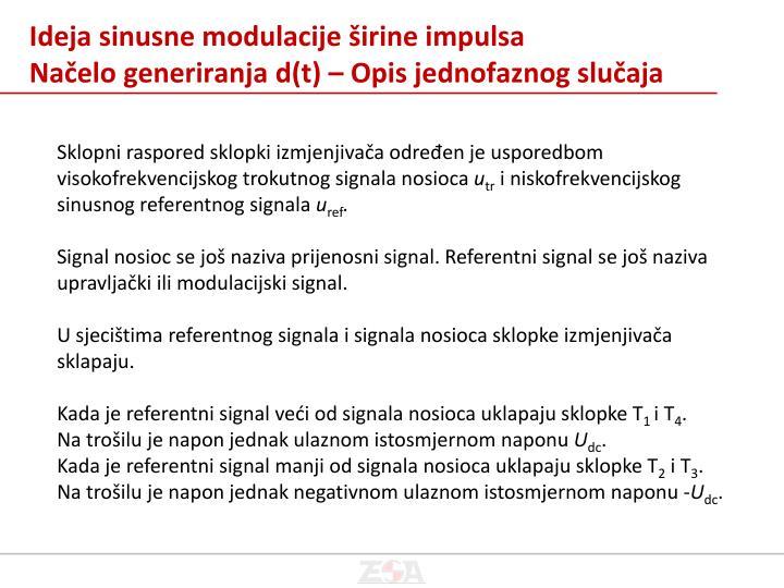 Ideja sinusne modulacije širine impulsa