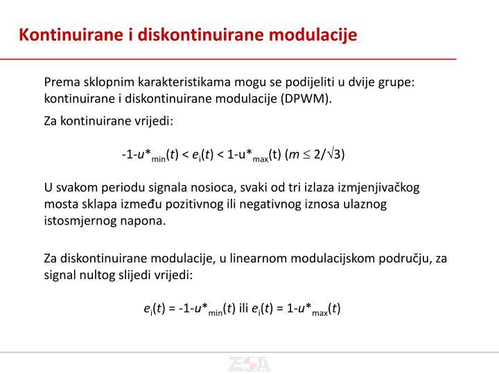Kontinuirane i diskontinuirane modulacije