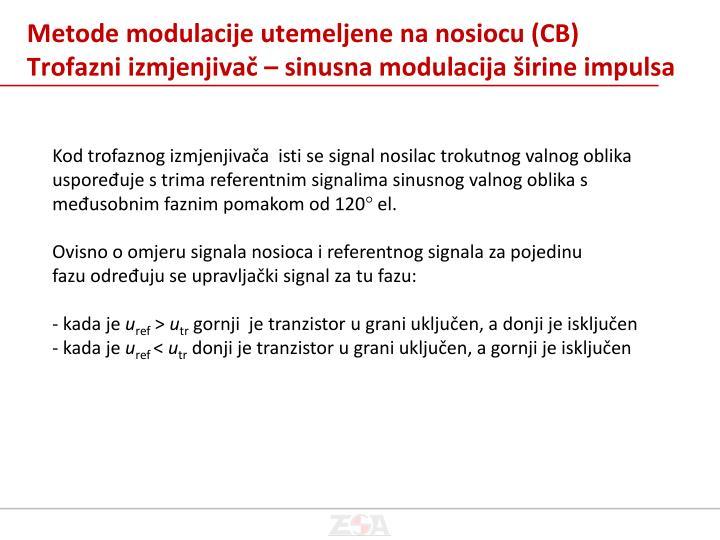 Metode modulacije utemeljene na nosiocu (CB)