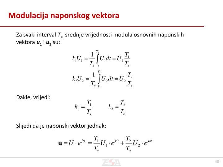 Modulacija naponskog vektora