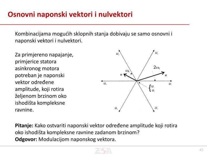 Osnovni naponski vektori i nulvektori