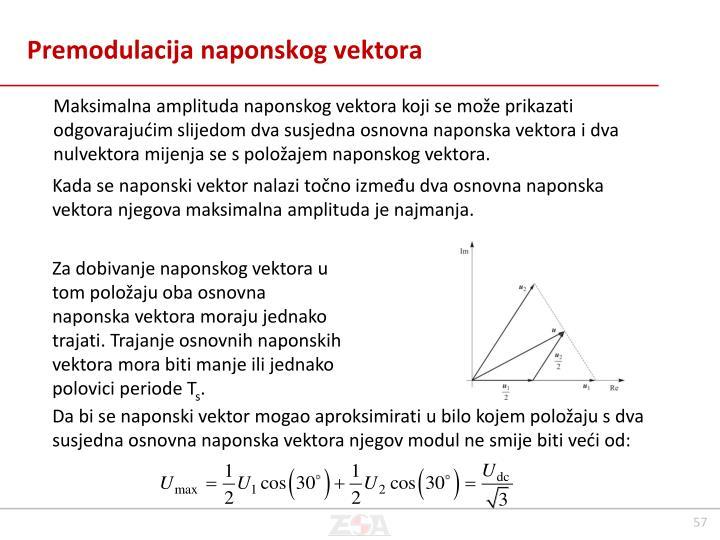 Premodulacija naponskog vektora