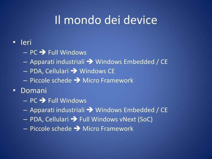 Il mondo dei device