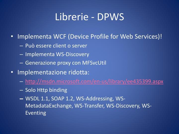 Librerie - DPWS
