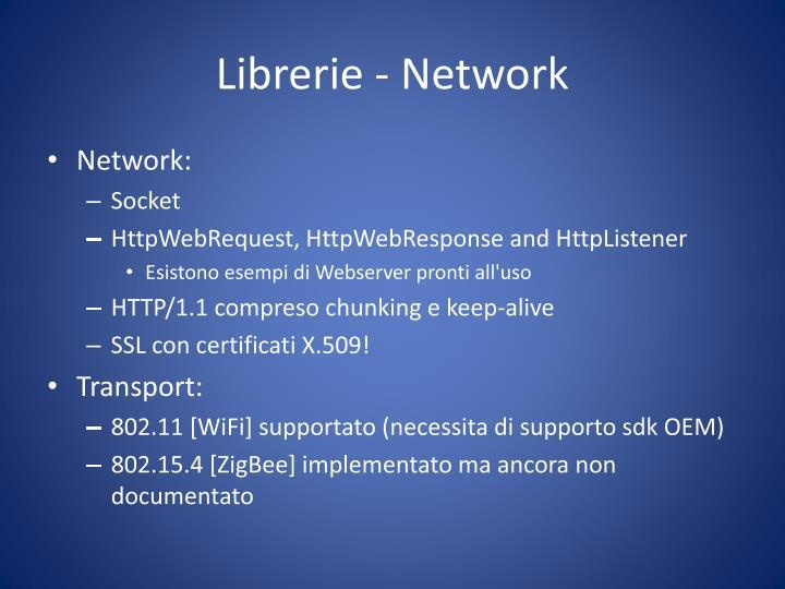 Librerie - Network