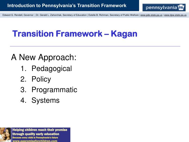Transition Framework – Kagan