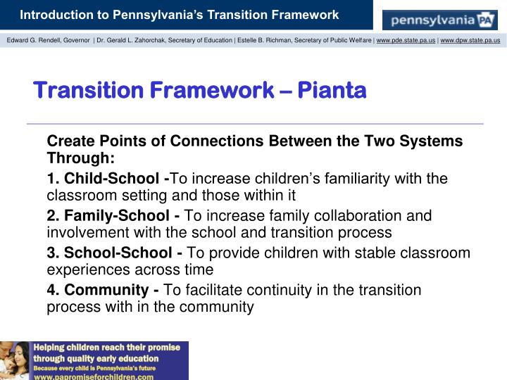 Transition Framework – Pianta
