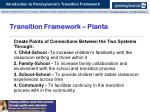 transition framework pianta