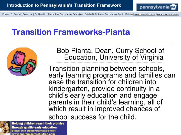 Transition Frameworks-Pianta