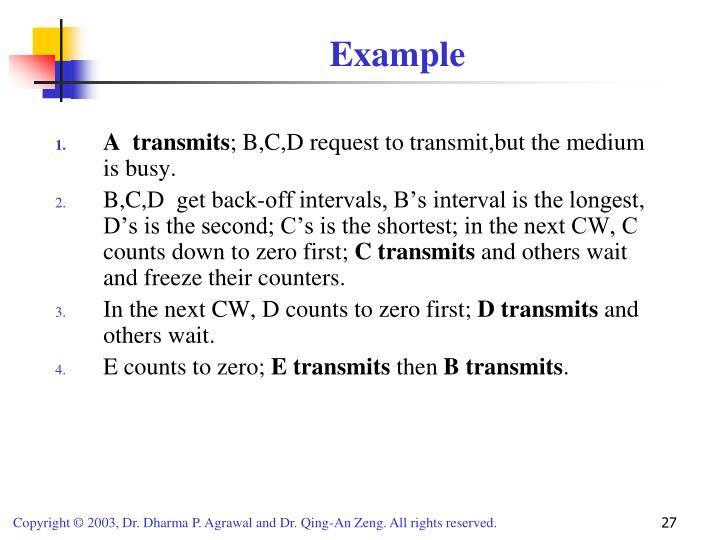 A  transmits