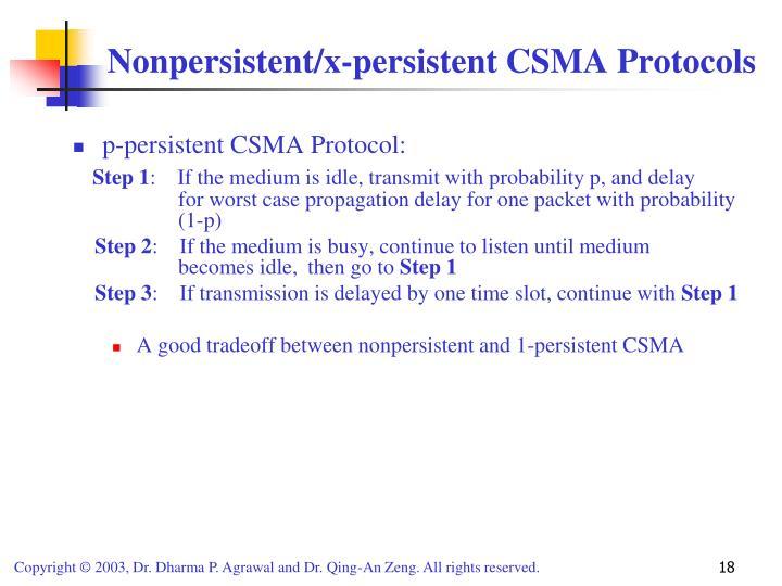 p-persistent CSMA Protocol: