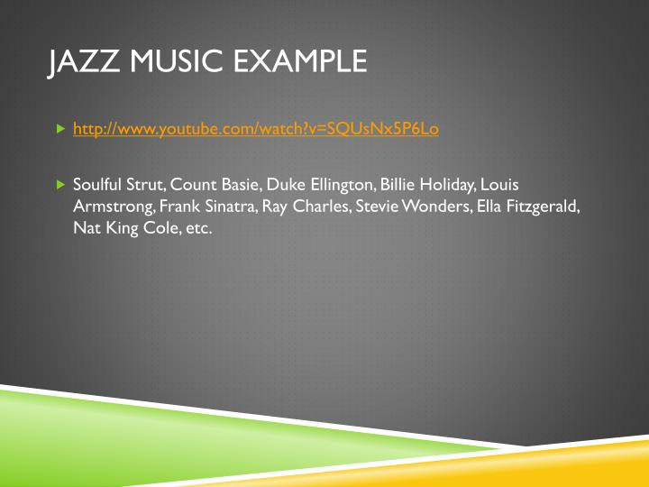 Jazz Music Example