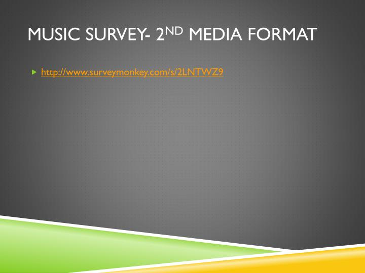 Music Survey- 2