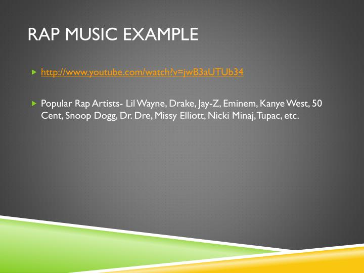 Rap Music Example