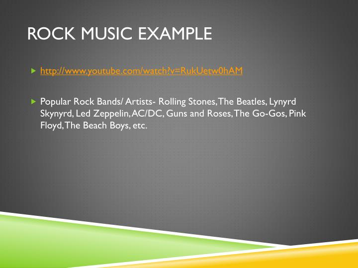 Rock Music Example