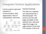 computer science applications