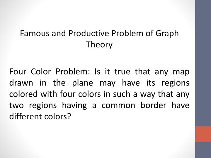 Famous and Productive Problem of Graph Theory