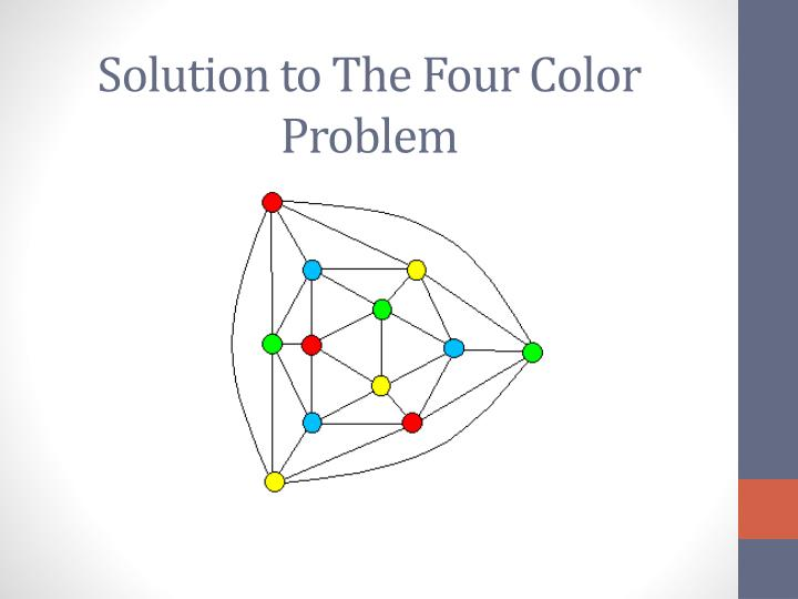 Solution to The Four Color Problem