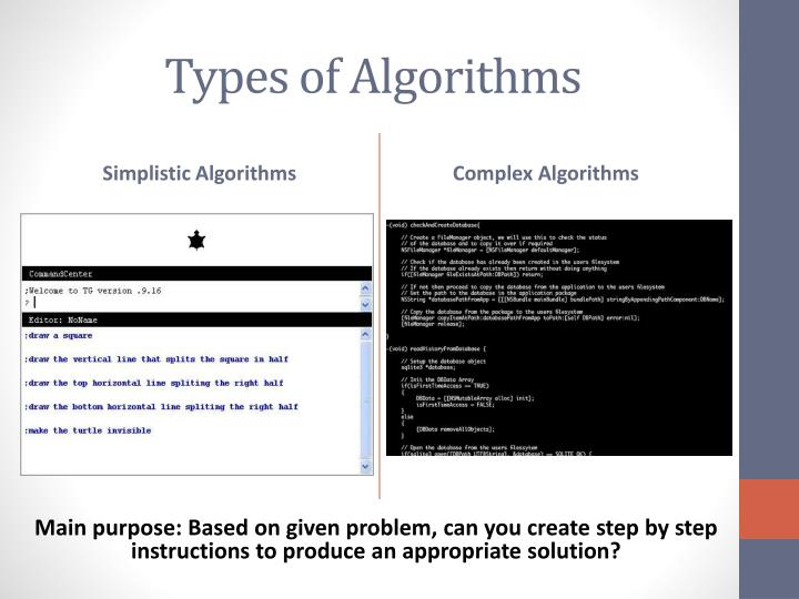 Types of Algorithms