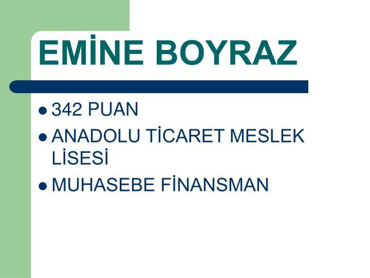 EMİNE BOYRAZ