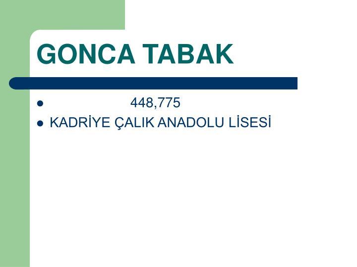 GONCA TABAK