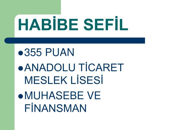 HABİBE SEFİL