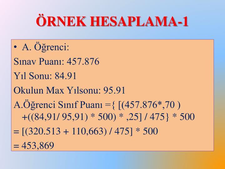 Örnek Hesaplama-1