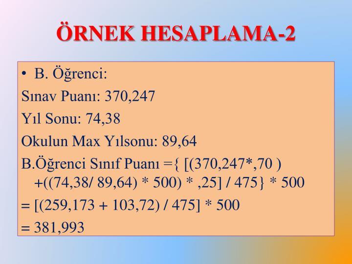 Örnek Hesaplama-2