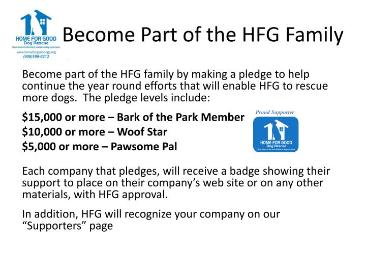 Become Part of the HFG Family