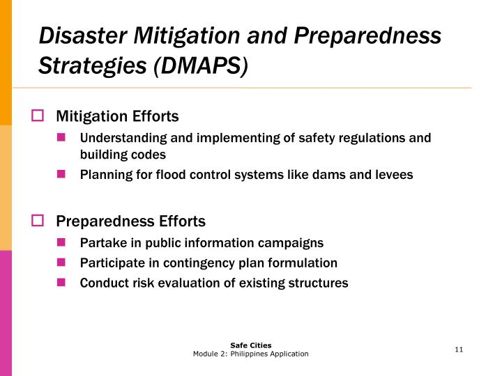 Disaster Mitigation and Preparedness Strategies (DMAPS)