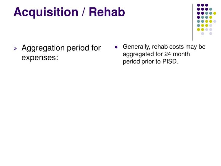 Aggregation period for expenses:
