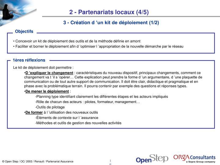 2 - Partenariats locaux (4/5)