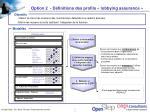 option 2 d finitions des profils lobbying assurance