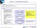 option 3 communication en interne